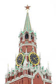 Kremlin tower isolated over white, Moscow, Russia — Stock Photo