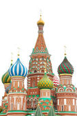 St basil cathedral over white, moscow, russia — Stock Photo