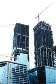 Baustelle isoliert weiß — Stockfoto