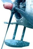 Details of military airplane fuselage — Stock Photo