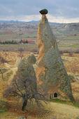 Stone formations in cappadocia, turkey — Stock Photo