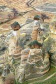 Rock formations, cappadoccia, turkey — Stock Photo