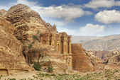 Petra, jordan, monastery — Stock Photo