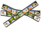 From baby to toddler - the whole life on a filmstrip — Stock Photo