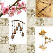 Collection of zen-like images — 图库照片