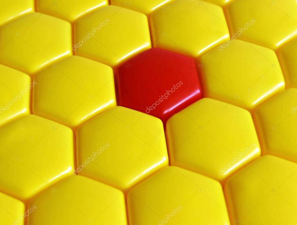 Pattern from yellow and red hexagons — Stock Photo #12615331