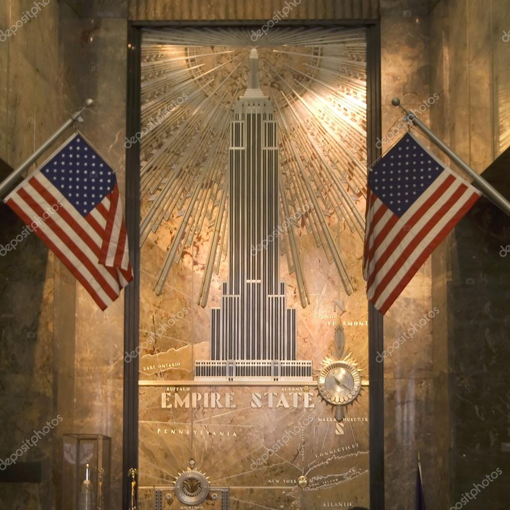 Entrance hall of empire state building, nyc, usa — Stock fotografie #12619046