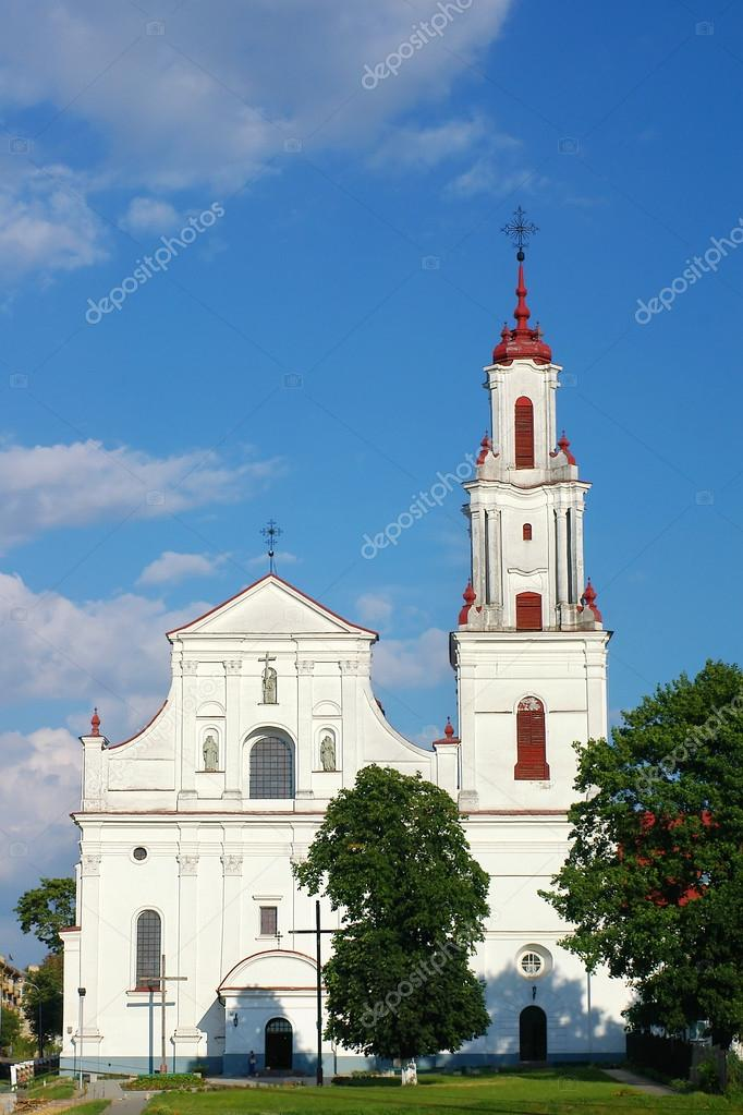 Catholic cathedral, frontal view  Stock Photo #12619597