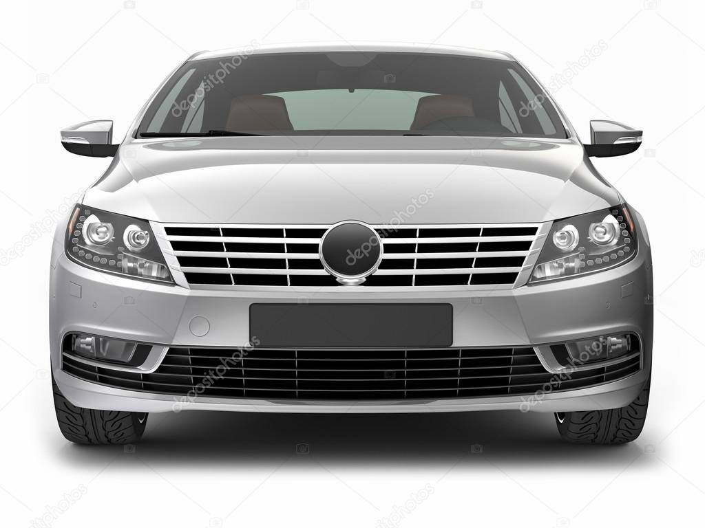 FRONT VIEW OF SILVER CAR – Stock Editorial Photo ...