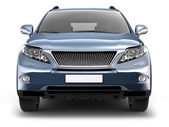 Front view of blue suv car — Stock Photo