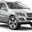 Stock Photo: MODERN SILVER SUV CAR