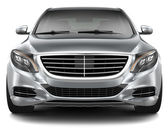 Full-size luxury car - front view — Stock Photo