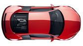 Red sports car - top view — Stock Photo