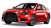 Red sport sedan car — Stock Photo