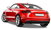 Red coupe - rear view — Stock Photo
