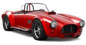 Kırmızı vintage roadster — Stok fotoğraf