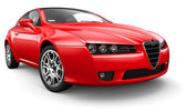 Red sport compact coupe — Stock Photo