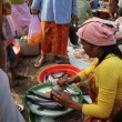 Buyers and sellers at a traditional market in Lombok Indonesia — Stock Photo