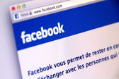 French Facebook Sign-in Page used by Millions of Users Around the World — Foto Stock