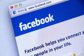 English Facebook Sign-in Page used by Millions of Users Around the world — Стоковое фото