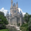 Stock Photo: Cinderella's Castle Standing Proud Under Blue Sky at DIsney World Orlando