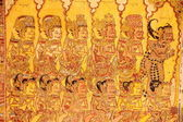 Traditional Gilded Wall Paintings in Kertagosa of Klungklung — Stock Photo