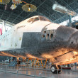 NASA's space shuttle Discovery on display at the Smithsonian National Air and Space Museum Steven F. Udvar-Hazy Center. — Stock Photo