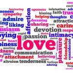 słowa miłości — Zdjęcie stockowe