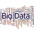 Big data word cloud — Stock fotografie