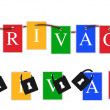 Stock Photo: Google privacy colors banner