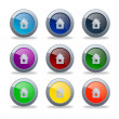 Buttons for webpage — Stock Photo