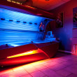 Tanning bed at solarium studio — Foto Stock
