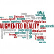 Augmented reality word cloud — Stock Photo
