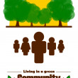 Green community concept — Foto Stock