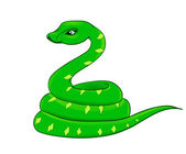Cartoon snake, the symbol of 2013 — Stockvector