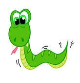 Cartoon snake, the symbol of 2013 — Stock Vector
