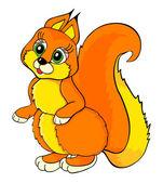 Schönheit eichhörnchen cartoon-vektor illustraton — Stockvektor