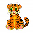 Stock Vector: Tiger cartoon