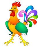 Rooster cartoon — Stock Vector