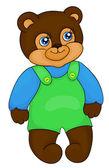 Desenhos animados urso — Vetor de Stock