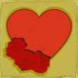 Heart decorated with roses - Imagen vectorial