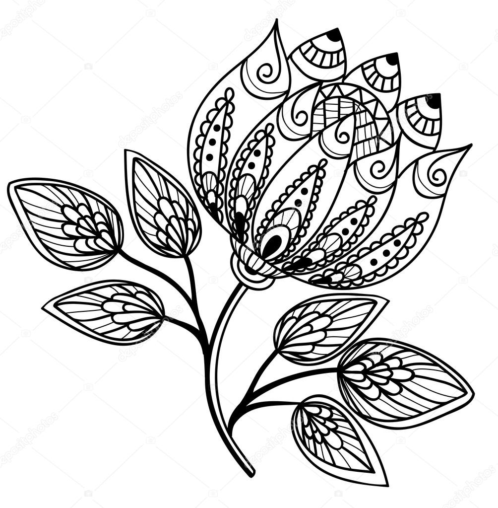 Simple black and white drawings of flowers comousar simple black and white drawings of flowers simple black a mightylinksfo