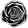 Stock Vector: Abstract black and white rose.