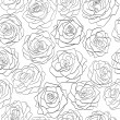 Seamless pattern of roses — Stock Vector
