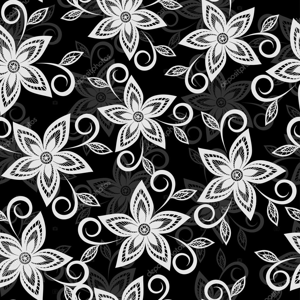 Pretty Black And White Flower Backgrounds 2018 Images Pictures