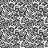 Vintage seamless background of gray roses — Stock Vector