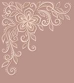 Beautiful floral pattern, a design element in the old style. — Stock Vector