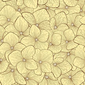 Vackra seamless mönster med handritade blommor i vintage färger — Stockvektor