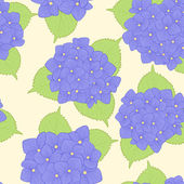 seamless background with  flower hydrangea . — Wektor stockowy