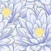 Seamless mönster med lotusblommor. — Stockvektor
